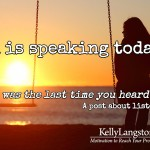 God is Speaking… Are You Listening?