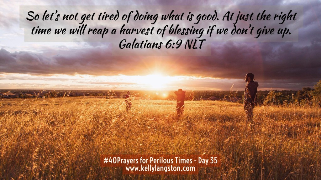 40 Prayers for Perilous Times Day 35